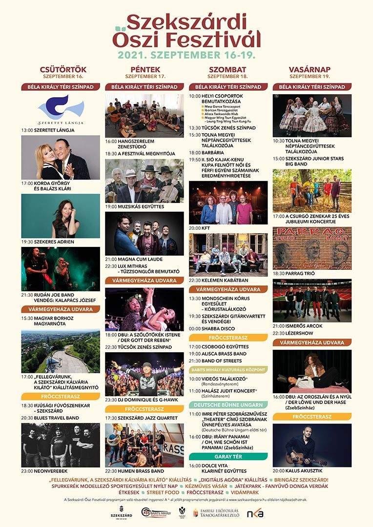 Szekszárdi Őszi Fesztivál programok
